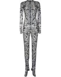 Versace Matt Viscose Jersey Dress Suit - Black