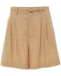 Ralph Lauren Glenn Wide-leg Wool Shorts - Brown