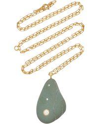CVC Stones Bohemia 18k Gold, Diamond And Stone Necklace - Green