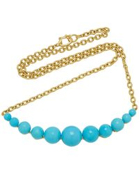 Irene Neuwirth 18k Gold And Turquoise Necklace - Metallic