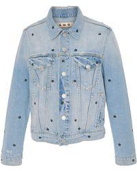 AMO - Floral Embroidered Denim Jacket - Lyst