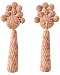 Johanna Ortiz Flowery Prose Iraca Drop Earring - Multicolour