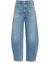 Citizens of Humanity Calista Organic Curved-leg High-rise Jeans - Blue