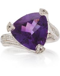 Akillis 18k Gold, Amethyst And Diamond Ring - Purple