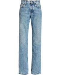 The Attico Rigid High-rise Girlfriend Jeans - Blue
