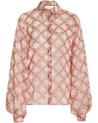 Alexis Inaki Printed Chiffon Shirt - Pink