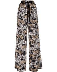 Prabal Gurung Printed High-rise Silk Pajama Pants - Multicolor
