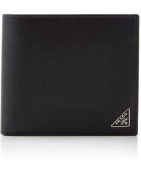 Prada Saffiano Leather 8cc Wallet - Black