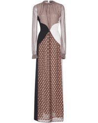Giambattista Valli - Polka-dot Paneled Silk Gown - Lyst