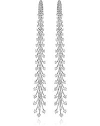 Hueb Lumius Diamond Earrings - White