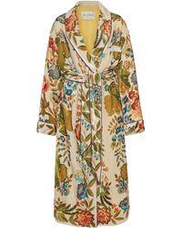 Etro Floral Jacquard Robe - White