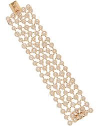 Amrapali Draped 18k Yellow Gold Diamond Bracelet - Metallic