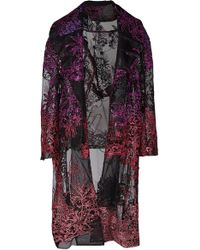 Prabal Gurung Kalak Embroidered Tulle Coat - Multicolor