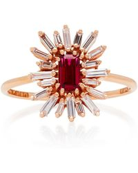 Suzanne Kalan - One-of-a-kind 18k Rose Gold Ruby And Diamond Ring - Lyst