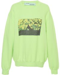 Off-White c/o Virgil Abloh - Flowers Cotton Pullover - Lyst