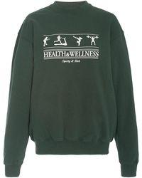 Sporty & Rich Health And Wellness Cotton-jersey Sweatshirt - Green