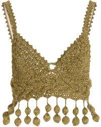 Rosie Assoulin Carmen Miranda Crocket-knit Bra Top - Green