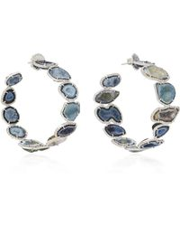 Kimberly Mcdonald - 18k White Gold, Geode And Diamond Hoop Earrings - Lyst
