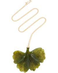 Annette Ferdinandsen - M'o Exclusive: Jade Ginkgo Leaf Necklace - Lyst