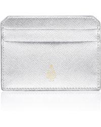 Mark Cross - Metallic Saffino Leather Card Case - Lyst