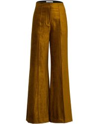 Dorothee Schumacher - Glamorous Cotton-blend Flare Trousers - Lyst