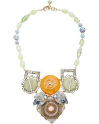 Lulu Frost One-of-a-kind Gold-plated Crystal Necklace - Metallic