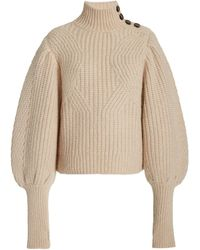Ulla Johnson Alana Ribbed Alpaca-blend Sweater - Brown