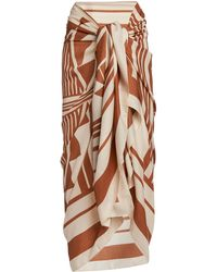 Johanna Ortiz Take My Breath Away Printed Cashmere-silk Pareo - White