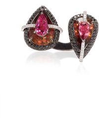 Wendy Yue - 18k Gold, Tourmaline, Rubellite And Diamond Ring - Lyst