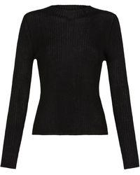 St. Agni Donna Knit Top - Black
