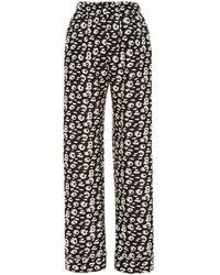 Brandon Maxwell Cheetah-print Pyjama Relaxed Trousers - Multicolour
