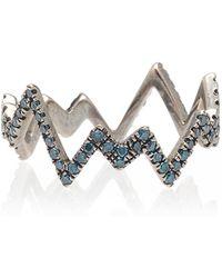 Diane Kordas - Blue Pop Art Ring - Lyst