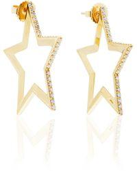 Kwiat - Star Hoop Earrings - Lyst