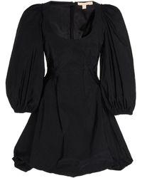 Brock Collection Gathered Poplin Mini Dress - Black