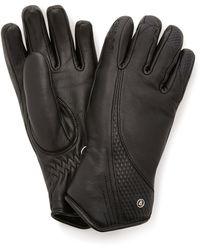 Bogner Meli Leather Down Gloves - Black