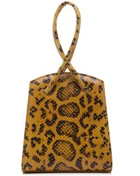 Little Liffner Twisted Wristlet Printed Lizard-effect Leather Tote - Multicolour