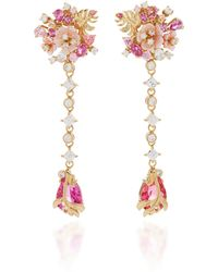Anabela Chan - M'o Exclusive Padparadscha Paradise Drop Earrings - Lyst