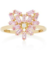 Suzanne Kalan Heart-shaped 18k Gold And Pink Sapphire Ring