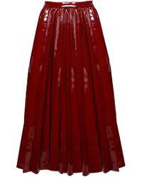 ANOUKI - Patent Leather Imitation Flare Skirt - Lyst