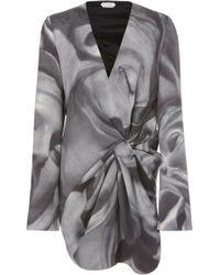 Unttld Bedelia Printed Cotton-blend Dress - Grey