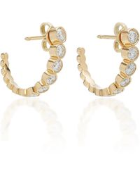Sophie Bille Brahe - Boucle Ensemble 18k Gold Diamond Hoop Earrings - Lyst