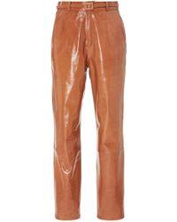 Zeynep Arcay - Mom Straight-leg Leather Pants - Lyst