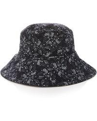 Sensi Studio Printed Corduroy Bucket Hat - Black