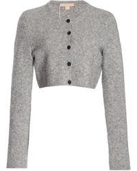 Brock Collection Tisca Cropped Wool-blend Cardigan - Grey