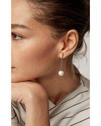 Nancy Newberg - Oxidized Silver, Diamond And Pearl Earrings - Lyst