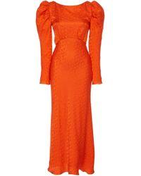 Saloni Alena Midi Dress - Orange