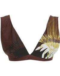 22be016707 Lenny Niemeyer - Wide-strap Printed Bikini Top - Lyst