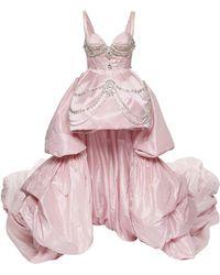 Prabal Gurung - Chandelier Crystal Silk Strapless Gown - Lyst
