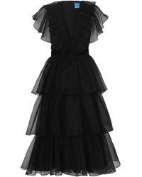 Macgraw Chandelier Silk Dress - Black