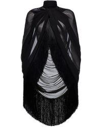Magda Butrym Medford Fringe-hem Silk Cape - Black